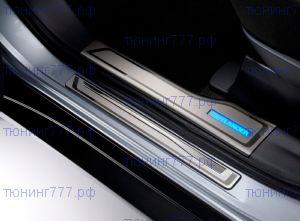 Накладки на пороги, с LED подсветкой, Оригинал, к-кт