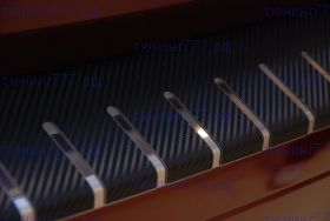 Накладка на задний бампер, Alufrost, с загибом, нерж. сталь в карбоне., а/м 2013-11/2015