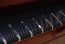 Накладка на задний бампер, Alufrost, с загибом, нерж. сталь в карбоне, на хэтч