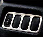 Окантовка блока 4x кнопок, матовая нерж. сталь