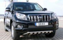 Защита переднего бампера Seko, с зубцами, нерж. сталь ф 50мм., авто с 2012-
