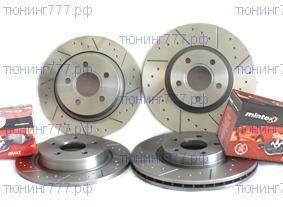 Комплект тормозных дисков + колодки Mintex, для мотора 2.4л