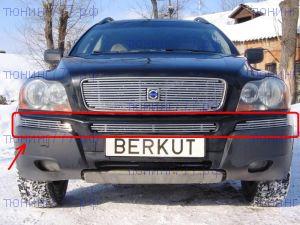 Решетка в бампер, Berkut, полированая нерж. сталь, а/м 2002-2006