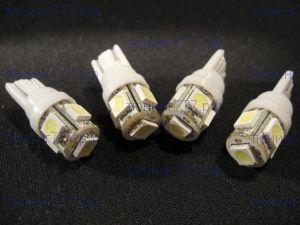 Лампы светодидные, 5LED, тип 5W5 цоколь Т10, на 5 диодов