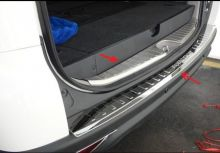 Накладки на задний бампер + проем двери багажника, нерж. сталь