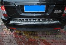 Накладка на задний бампер, с лого по центру, нерж. сталь a/м 2010-2013