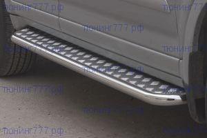 Боковые подножки Souz-96, нерж. сталь, труба ф 42мм., а/м 2005-2007г.в.