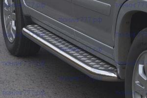 Боковые подножки Souz-96, нерж. сталь, труба ф 60мм., а/м 2005-2007г.в.