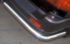 Защита заднего бампера, Metec, нерж. хромоникелевая сталь ф 60мм