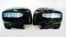 """Накладки на зеркала с LED повторителями поворота и функцией """"приветственный свет"""", окрашеные"""