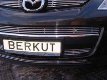 Решетка в бампер, Berkut, полированая нерж. сталь 3 части, а/м 2007-2009
