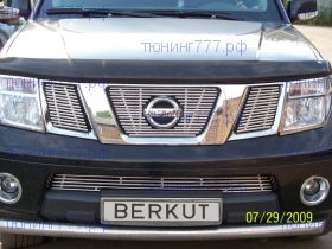 Решетка в бампер, Berkut, нерж. сталь, а/м 2005-2010