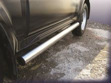 Защита штатных порогов, SL, нерж. сталь ф 57мм