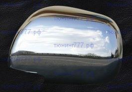 Накладки на зеркала, Omsa Line, нерж. сталь, а/м 2006-2009