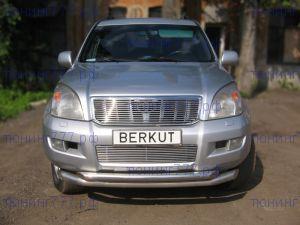 Решетка радиатора Berkut, сплошная, нерж. сталь