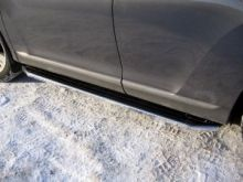 Боковые подножки Berkut, алюминий с прорезиненной накладкой, окантовка нерж. сталь