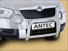 Защита переднего бампера Antec, дуга (кенгурятник) ф 60мм с поперечной трубой 42мм., нерж. сталь