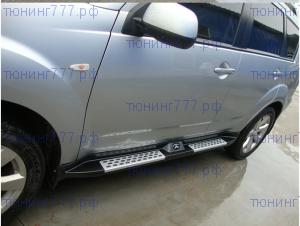 Боковые подножки cnt4x4, алюминий с логотипом, к-кт