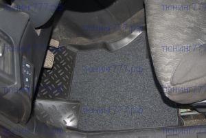 Коврики в салон, Aileron, с ворсовой вставкой, 3D полиуретановые с бортиком