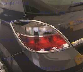 Окантовка на задние фонари, Omsa, хром, хетчбэк 2004-2009