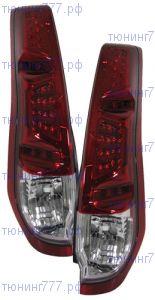 Фонари задние светодиодные LED, красно-белые