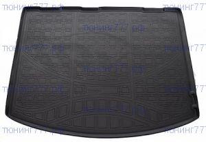 Коврик (поддон) в багажник, Unidec, полиуретановый черный, с бортиками