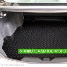 Коврик (поддон) в багажник, Unideс, полиуретановый черный с бортиками, на седан