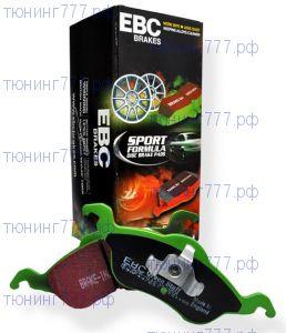 Тормозные колодки EBC, серия Greenstuff, передний к-кт на 2.0л