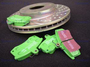 Тормозные колодки EBC, серия Green Stuff, задние, V - 1.6 и 1.8
