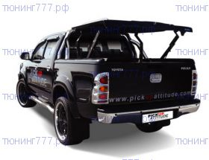 Крышка кузова TopUp, серия TS-II, в к-кте защитные дуги и рейлинги, цвет черный