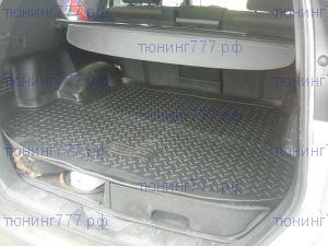 Коврик (поддон) в багажник, Norplast, черный полиуретан с бортиком