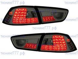 Фонари задние LED, светодиодные темные, на седан