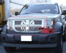 Решетка радиатора, с эмблемой Dodge на хром. сетке, нерж. сталь, а/м 2007-2011