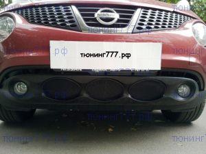 Решётка-сетка в бампер, Autoleader, алюминий, черная., а/м до 11.2014