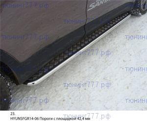 Подножки боковые, ТСС, лист алюминий, труба нерж. сталь ф 42мм