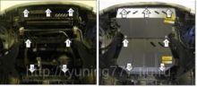 Защита Мotodor сталь 3мм, 4 части на все моторы с Акпп