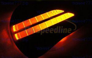 Накладки на зеркала со встроеными LED повторителями поворота и DRL, под покраску