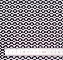 Сетка в бампер, Ромб, алюминий, цвет Чёрный, 100 х 25см