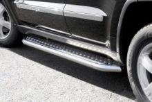 Боковые подножки Seko, рифленый лист с трубой ф 60мм., нерж. сталь