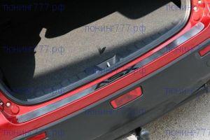 Накладка на задний бампер, Souz, с лого, нерж. сталь, а/м 2010-2012