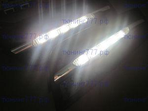 Вставки в передний бампер с ДХО (DRL), а/м 2008-2012