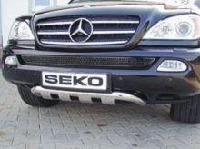 Защита переднего бампера Seko, низкая, нерж. сталь