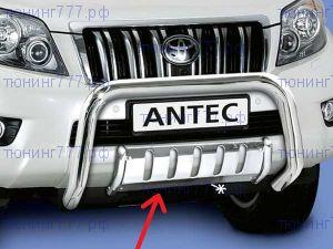 Защита переднего бампера Antec, центральная, нерж. сталь ф 42мм