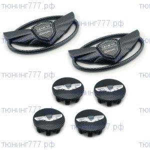 Эмблемы на кузов и колесные диски, карбон 6ч