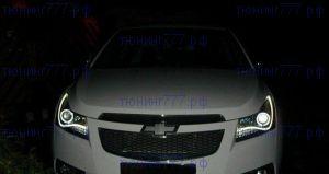Передняя LED отпика в стиле AUDI A8, с ангельскими глазками