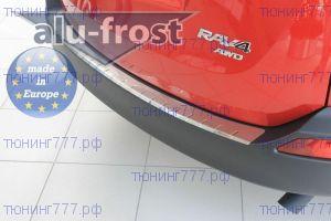 Накладка на задний бампер, Alufrost, с загибом, нерж. сталь., а/м 2013-11/2015