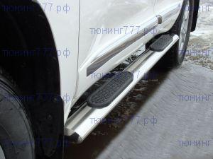 Боковые подножки ТСС, овал с проступями, нерж. сталь ф 120х60 мм