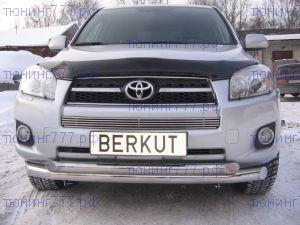 Решетка в бампер, Berkut, нерж. сталь, а/м 2008-2010