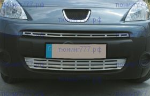 Решетки в передний бампер, Omsa, нерж. сталь, а/м 2008-2012