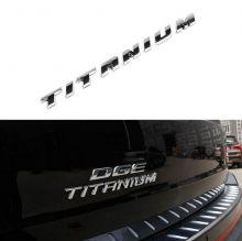 Эмблема Titanium, на крышку багажника, хром